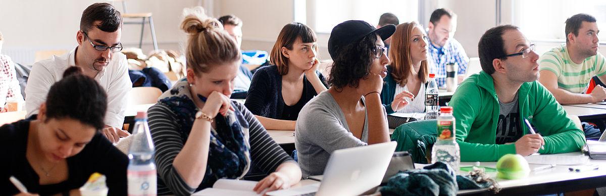 Studierende in einer Lehrveranstaltung
